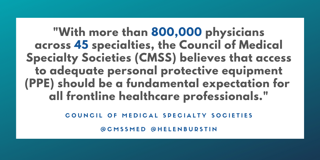 cmss statement on PPE